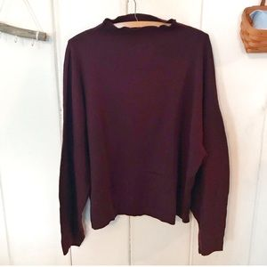 H&M Conscious • NWT dark maroon mock neck sweater